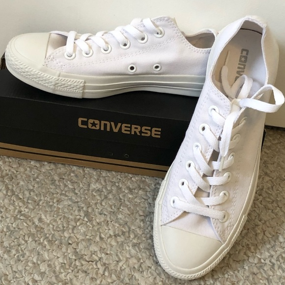 58c358eda317 Converse Shoes - Converse All Star Monochrome White Low Top Sneaker
